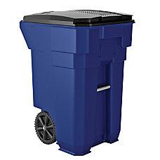Suncast Commercial Wheeled Square HDPE Trash