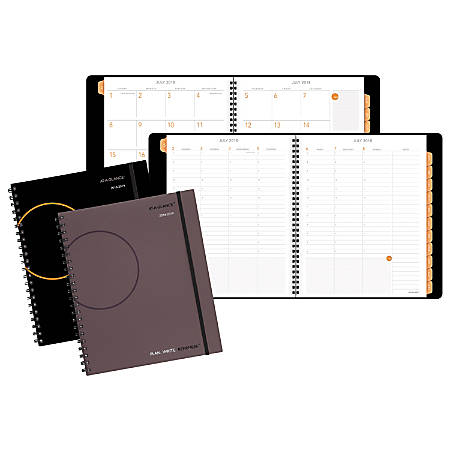 "AT-A-GLANCE® Plan.Write.Remember.® Academic Weekly/Monthly Appointment Book/Planner, 8 3/4"" x 11"", Assorted Colors, July 2018 to June 2019"