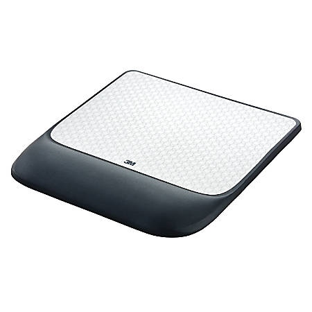 3M™ Precise™ Mouse Pad With Gel Wrist Rest, Gray/Black
