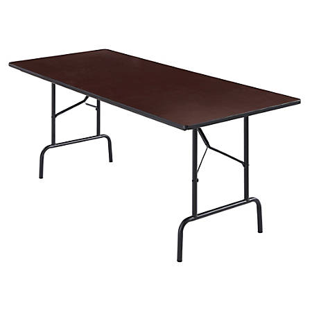 "Realspace® Folding Table, 6' Wide, 29""H x 72""W x 30""D, Walnut"