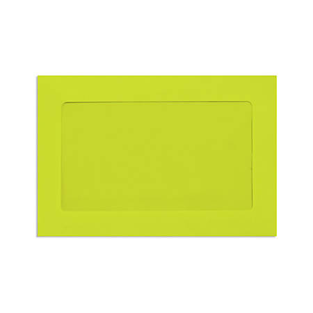 "LUX Full-Face Window Envelopes With Moisture Closure, #6 1/2, 6"" x 9"", Wasabi, Pack Of 50"