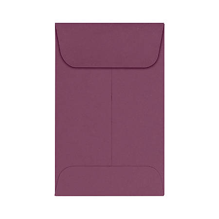 "LUX Coin Envelopes, #1, 2 1/4"" x 3 1/2"", Vintage Plum, Pack Of 1,000"
