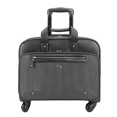"Solo Gramercy Park Rolling Case with 15.6"" Laptop Pocket, Gray"