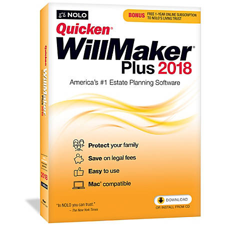 Quicken Willmaker Plus 2018 Mac