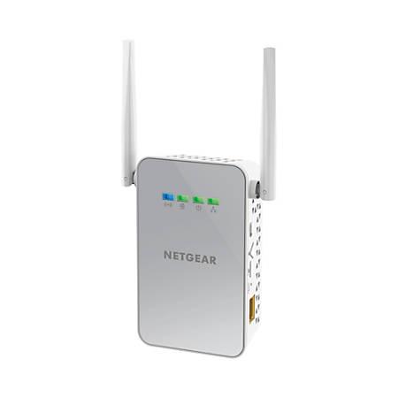 NETGEAR® Powerline 1000 Homeplug Wi-Fi Adapter Kit, PLW1000100NAS
