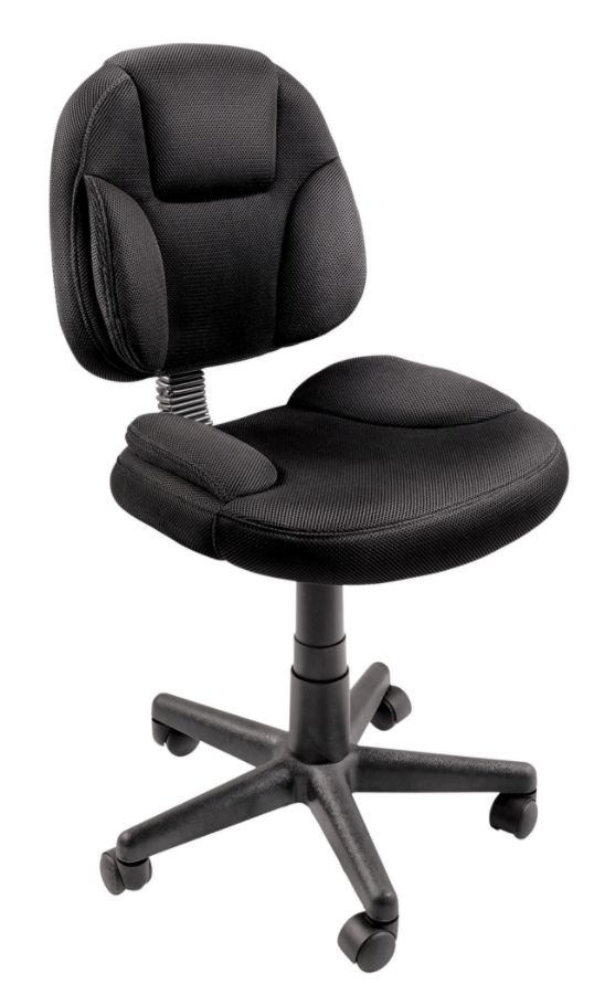 Brenton Studio Battista Mesh Fabric Task Chair Black by Office