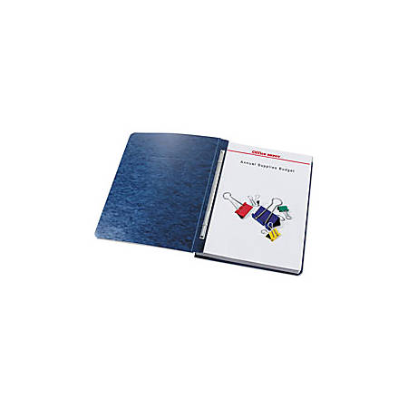 Office Depot® Brand Pressboard Report Covers With Fasteners, 50% Recycled, Dark Blue, Pack Of 5