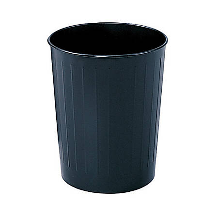 Safco® Round Wastebasket, 5 7/8 Gallons, Black