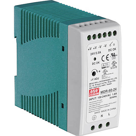 TRENDnet 60 W Single Output Industrial DIN-Rail Power Supply