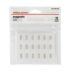 Office Depot Brand Magnets Silver 039