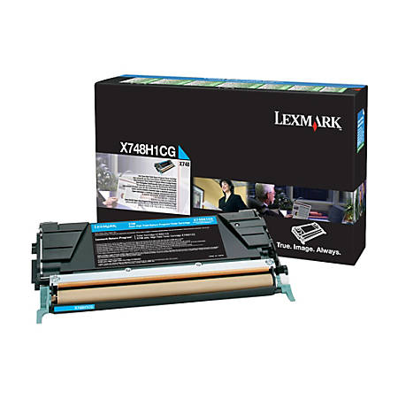 Lexmark™ X748H1CG High-Yield Return Program Cyan Toner Cartridge