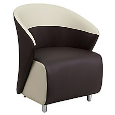 Flash Furniture Leather Reception Chair Dark