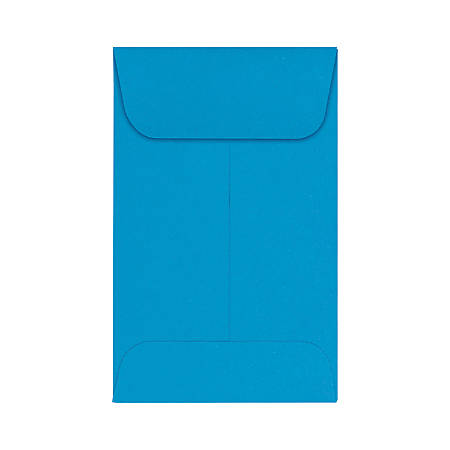 """LUX Coin Envelopes, #1, 2 1/4"""" x 3 1/2"""", Pool, Pack Of 50"""