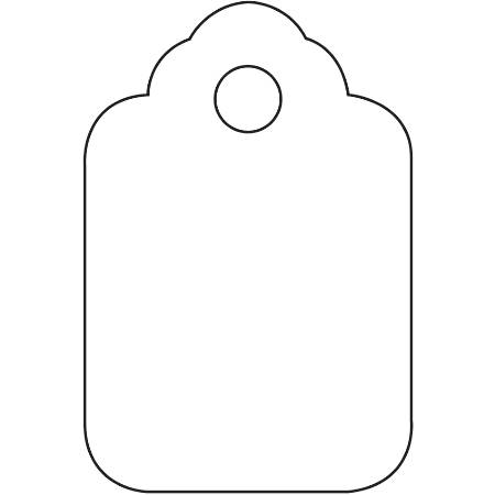 """Office Depot® Brand Unstrung Merchandise Tags, 1 1/8"""" x 1 3/4"""", White, Case Of 1,000"""