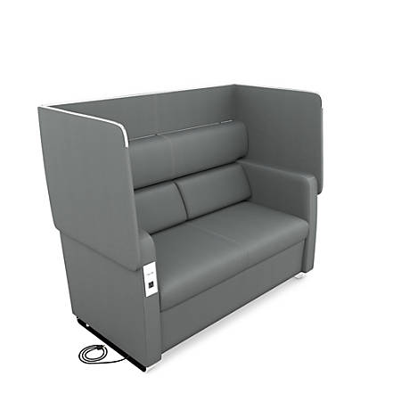 OFM Morph Series Soft Seating Sofa, Slate Gray/Chrome