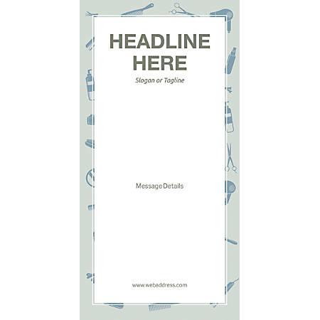Custom Vertical Display Banner, Salon Tools