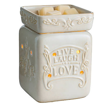 "Candle Warmers Etc Illumination Fragrance Warmer, 8-13/16"" x 5-13/16"", Live Well"