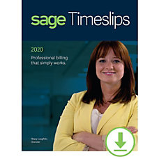 Sage Timeslips 2020 Time and Billing