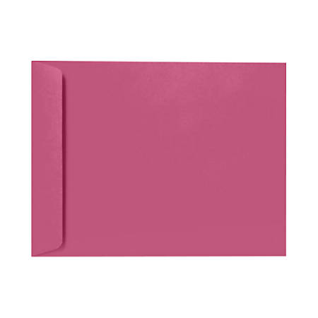 """LUX Open-End Envelopes With Peel & Press Closure, 10"""" x 13"""", Magenta, Pack Of 500"""