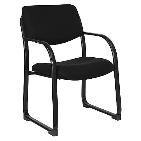 Flash Furniture Fabric Sled-Base Side Chair, Black