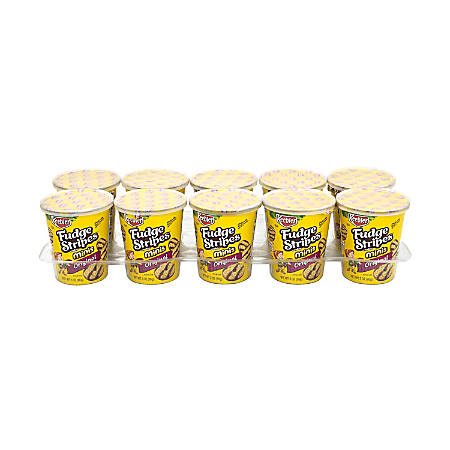 Keebler Mini Fudge Stripes On-The-Go Cups, 3 Oz, Pack Of 10 Cups