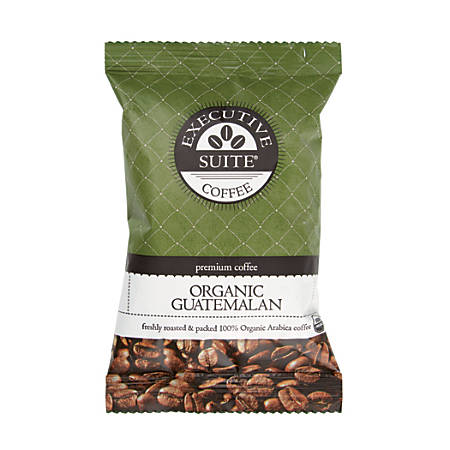 Executive Suite Certified Organic Guatemalan Coffee, 2.25 Oz, Case Of 24