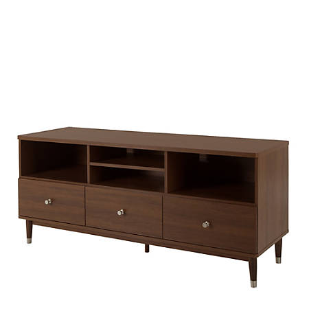 South Shore Olly TV Stand With Drawers For TVs Up To 60'', Brown Walnut