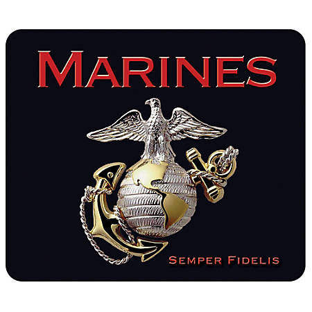 """Integrity Mouse Pad, 8.5"""" x 10"""", Marines Pride Logo, Pack Of 6"""