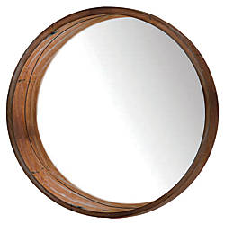 PTM Images Framed Mirror Round Wall