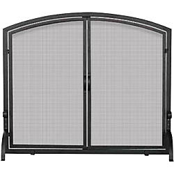 UniFlame Single Panel Black Wrought Iron