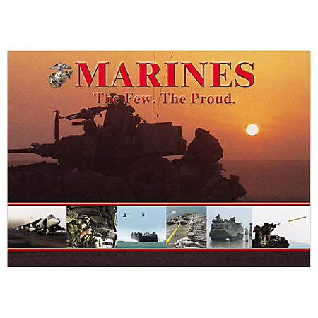 """Integrity Desk Pad, 17"""" x 24"""", Marines, Pack Of 6"""
