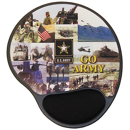 """Integrity Ergonomic Mouse Pad, 8.5"""" x 10"""", Army Multi-Photo, Pack Of 6"""