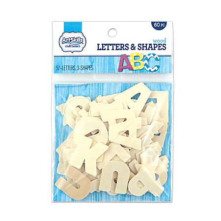 Artskills® Wood Letters, Tan, Pack Of 60