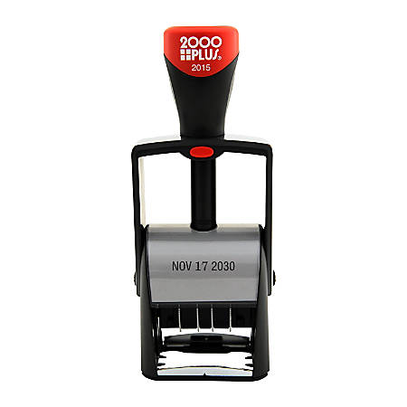 """2000 PLUS® Self-Inking Date Stamp, Single Line Date Only, 1-1/2""""x 5/32"""" Impression"""