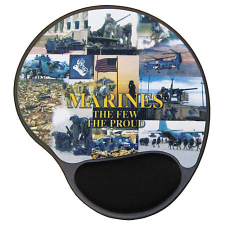 """Integrity Ergonomic Mouse Pad, 8.5"""" x 10"""", Marines Photo Series, Pack Of 6"""