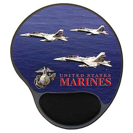 "Integrity Ergonomic Mouse Pad, 8.5"" x 10"", Marines Air Power, Pack Of 6"
