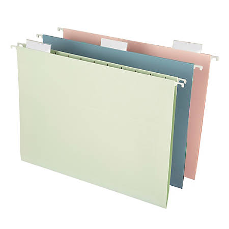 Office Depot® Fashion Hanging File Folders, Letter Size, Assorted Colors, Pack Of 6 Folders
