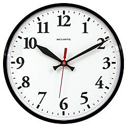 Acu Rite 12 Wall Clock Black