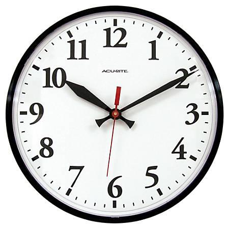 "Acu-Rite® 12"" Wall Clock, Black"