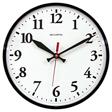Acu Rite 12 Wall Clock Black