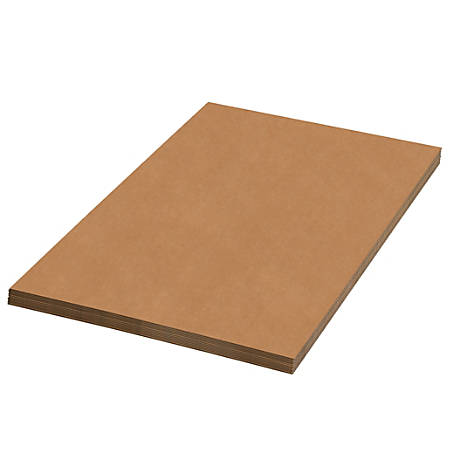 """Office Depot® Brand Corrugated Sheets, 24"""" x 24"""", Kraft, Pack Of 5"""