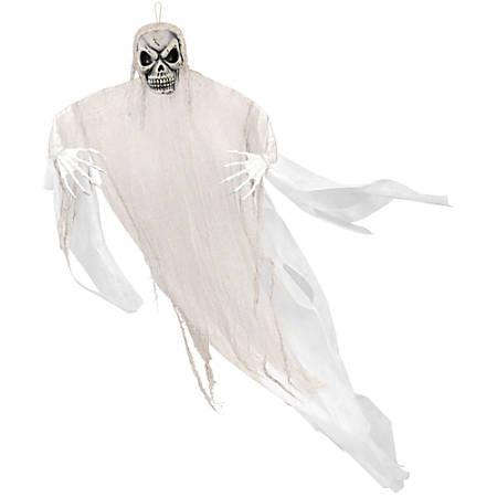 "Amscan Halloween Giant Hanging Grim Reaper Prop, 82""H x 12""W, White"