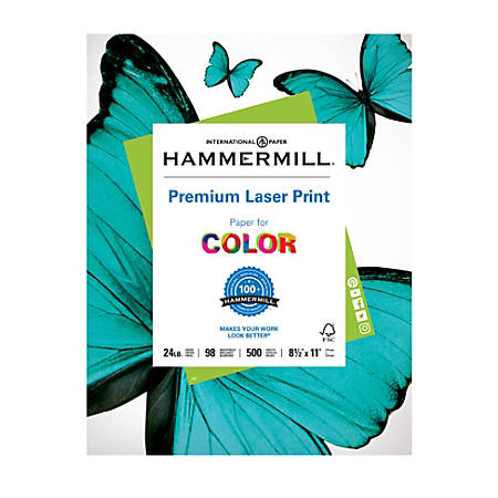 Hammermill® Laser Paper, Letter Paper Size, 24 Lb, Ream Of 500 Sheets