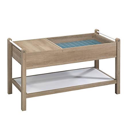 Sauder® Anda Norr Coffee Table, Rectangular, Sky Oak/White