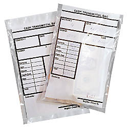 MMF Industries Polyethylene Cash Transmittal Bags