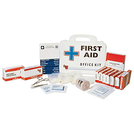 SKILCRAFT® Wall Mountable First Aid Kit For 10-15 People, 125 Pieces (AbilityOne 6545-01-433-8399)