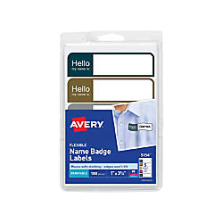 Avery Flexible Name Badge Labels 1
