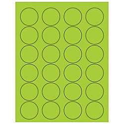 Office Depot Brand Labels LL193GN Circle