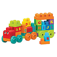 Mega Bloks ABC Learning Train Play