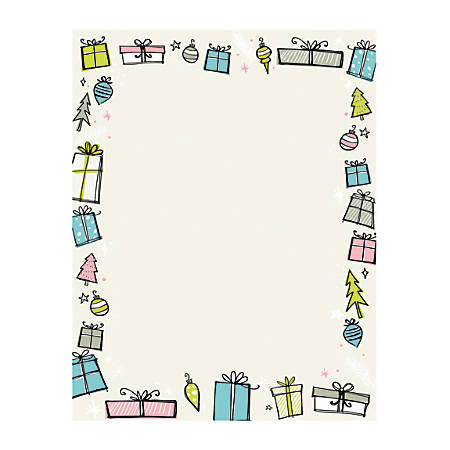 """Great Papers!® Holiday-Themed Letterhead Paper, 8 1/2"""" x 11"""", Madison Ave., Pack Of 80 Sheets"""